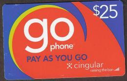 Phone Card USA 2008   $ 25,- Go Phone - Cingular - Australië