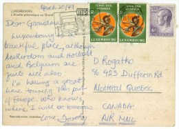 LUXEMBOURG - L'Alzette Pittoresque Au Grund - Air Mail To Canada - Nice Stamps 1979 - Cartes Postales