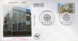 Lote F-Fr59, Francia, 1990, FDC, Europa CEPT, Cerizay - FDC