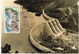 Nouvelle Caledonie Carte Postale Maximum Barrage De Yate Hydroelectricite Ed Flasphot 1959 TB - Usados