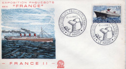 Lote F-Fr60, Francia, 1962, FDC, Exposition Paquebot, Le Havre, Barco, Boat, France II - 1990-1999