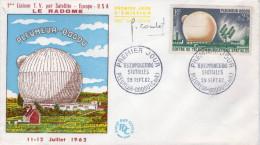 Lote F-Fr63, Francia, 1962, FDC, Centro De Comunicaciones Espaciales, Signed, Center For Space Communications - FDC