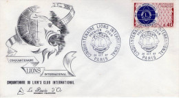 Lote F-Fr66, Francia, 1967, FDC, Club De Leones, Lions International - FDC