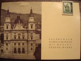 AUTRICHE . SALZBURGER FESTSPIELE 1956 MOZART . DOCUMENT COMMEMORATIF AVEC TIMBRES 857+755/62 - Música