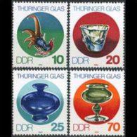 DDR 1983 - Scott# 2379-82 Glassware Set Of 4 MNH (XF942) - [6] Democratic Republic