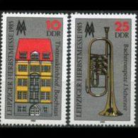 DDR 1985 - Scott# 2492-3 Leipzig Autumn Fair Set Of 2 MNH (XF970) - [6] Democratic Republic