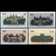 DDR 1986 - Scott# 2555-8 Castles Set Of 4 MNH (XG007) - [6] Democratic Republic