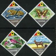 GHANA 1967 - Scott# 315-8 Fauna-Tourist Year Set Of 4 LH (XJ182) - Ghana (1957-...)