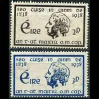 IRELAND 1937 - Scott# 101-2 Father Mathew Set Of 2 LH (XB486) - 1922-37 Stato Libero D'Irlanda