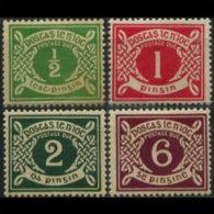 IRELAND 1925 - Scott# J1-4 Numeral Set Of 4 LH (XP511) - 1922-37 Stato Libero D'Irlanda