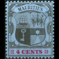 MAURITIUS 1904 - Scott# 131 Arms 4c MNH (XL774) - Maurice (1968-...)