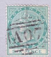 DOMINICA  8  (o)   Wmk 1 CC - Dominica (...-1978)