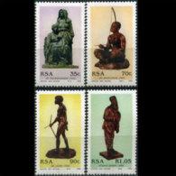 SOUTH AFRICA 1992 - Scott# 840-3 Wouw Sculptures Set Of 4 MNH (XR245) - Südafrika (1961-...)