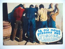 """France: VINS Et GASTRONOMIE """"A L'ombre Des Ceps"""" - La Ou Nous Pissons Des VIGNES FLEURIRONT - Unused - Distrito: 09"""
