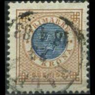 SWEDEN 1878 - Scott# 38 Numeral 1k Used (XI874) - Suède