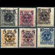 SWEDEN 1916 - Scott# B12-7 Due Stamps Surch. 1-20o CTO (XJ269) - Suède