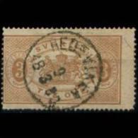 SWEDEN 1874 - Scott# O1 Arms 3o Used (XM726) - Suède