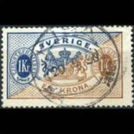 SWEDEN 1881 - Scott# O25 Arms 1k Used (XI986) - Suède