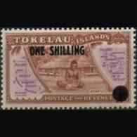 TOKELAU 1956 - Scott# 5 Map Surch. Set of 1 LH (XM104)
