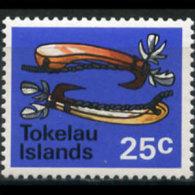 TOKELAU 1971 - Scott# 32 Fishing Hooks 25c LH (XN835)