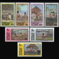 TOKELAU 1976 - Scott# 49a-56a Local Life Perf.15 Set of 7 MNH (XT598)