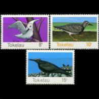 TOKELAU 1977 - Scott# 57-9 Birds 8-15c MNH (XT772)