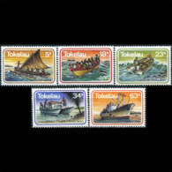 TOKELAU 1983 - Scott# 91-5 Ships 5-63s MNH (XT776)