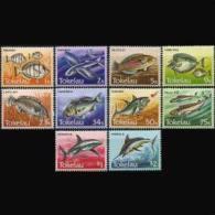 TOKELAU 1984 - Scott# 104-13 Local Fish Set of 10 MNH (XT603)