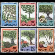 TOKELAU 1985 - Scott# 114-9 Trees and Fruits Set of 6 MNH (XT604)