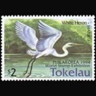 TOKELAU 1994 - Scott# 194 White Heron Set of 1 MNH (XT628)