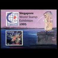 TOKELAU 1995 - Scott# 212 S/S Reef Fish MNH (XT634)