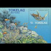 TOKELAU 1996 - Scott# 221 S/S Sea Turtles MNH (XT639)