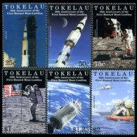 TOKELAU 1999 - Scott# 266-71 Moon Landing Set of 6 MNH (XM321)