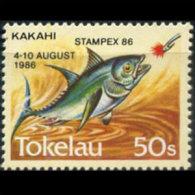 TOKELAU 1986 - MI# 129 Fish Opt. Set of 1 MNH (XT785)