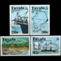 TUVALU 1977 - Scott# 54-7 Expeditions-Ships Etc. Set Of 4 MNH (XH527) - Tuvalu
