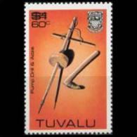 TUVALU 1983 - Scott# 207 Pump Drill Surch. Set Of 1 MNH (XO501) - Tuvalu