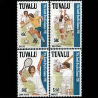 TUVALU 1991 - Scott# 574-7 Games-Soccer Etc. Set Of 4 MNH (XH666) - Tuvalu
