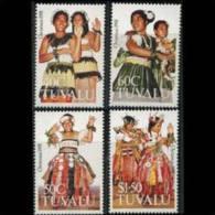 TUVALU 1991 - Scott# 582-5 Christmas-Dance Costumes Set Of 4 MNH (XH976) - Tuvalu
