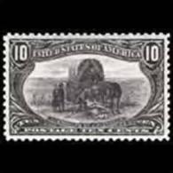 U.S.A. 1898 - Scott# 290 Emigration-Coach 10c LH (XA795) - Unused Stamps