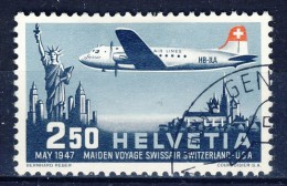 #K283. Switzerland 1947. Airmail. Michel 479. Cancelled(o) - Poste Aérienne