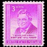 U.S.A. 1948 - Scott# 975 Humorist W.Rogers Set Of 1 MNH (XE600) - Neufs