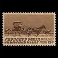 U.S.A. 1968 - Scott# 1360 Cherokee Strip-Wagon Set Of 1 MNH (XK526) - United States