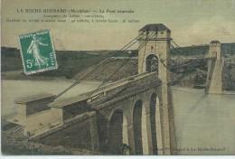56, Morbihan,La ROCHE-BERNARD, 838 Habts, Le Pont Suspendu....etc, Couleurs, Scan Recto-Verso - La Roche-Bernard