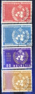 ##K310. Switzerland 1956. WMO. Michel 10-13. Cancelled(o) - Service
