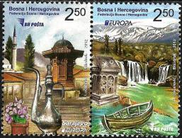 Bosnia & Herzegovina - Sarajevo - 2012 - Europa CEPT - Visit Bosnia - Mint Stamp Set - Bosnië En Herzegovina
