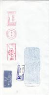 Chypre- Lettre Recommandée De 1992 - EMA - Empreintes Machines - Cyprus (Republic)