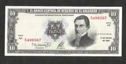 [NC] EL SALVADOR - El BANCO CENTRAL De RESERVA De El SALVADOR - 10 COLONES (1988) - Monete