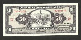 [NC] ECUADOR - BANCO CENTRAL Del ECUADOR - 50 SUCRES (1988) - Ecuador