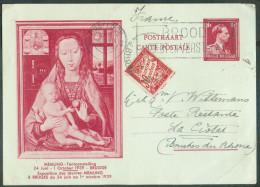 E.P. Carte 1Fr. Léopold III MEMLING Obl. Mécanique D'OOSTENDE 2 Le 11-VII-1939 Vers La Ciotat (FR) Et Taxée à 30 Centime - Stamped Stationery