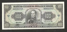 [NC] ECUADOR - BANCO CENTRAL Del ECUADOR - 100 SUCRES (1988) - Ecuador